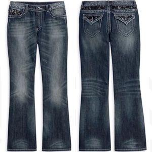 Harley Davidson Lace Embellished bootcut jeans 8